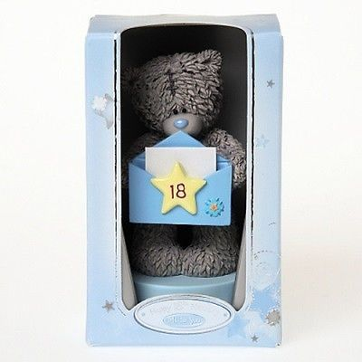 Me To You Figurine Holding Birthday 18th Envelope / Card