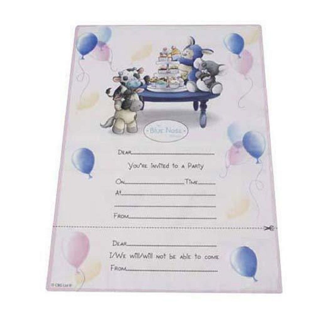 Me To You My Blue Nose Friends Partyware Invitations
